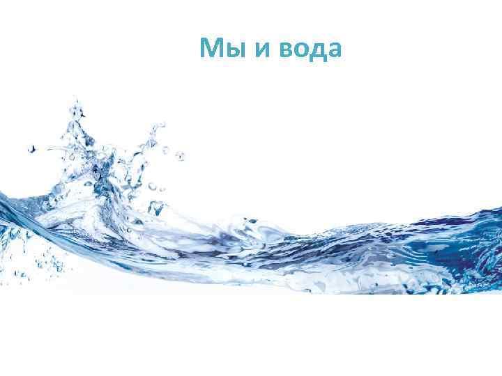 Мы и вода
