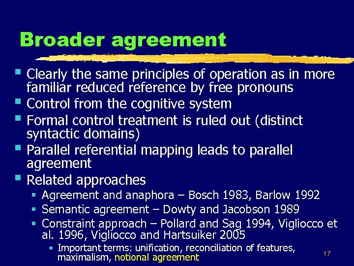 Broader agreement § Clearly the same principles of operation as in more § §