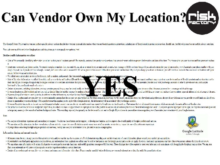 Can Vendor Own My Location?
