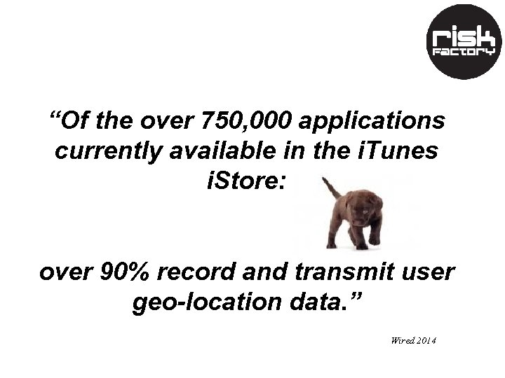 """Of the over 750, 000 applications currently available in the i. Tunes i. Store:"