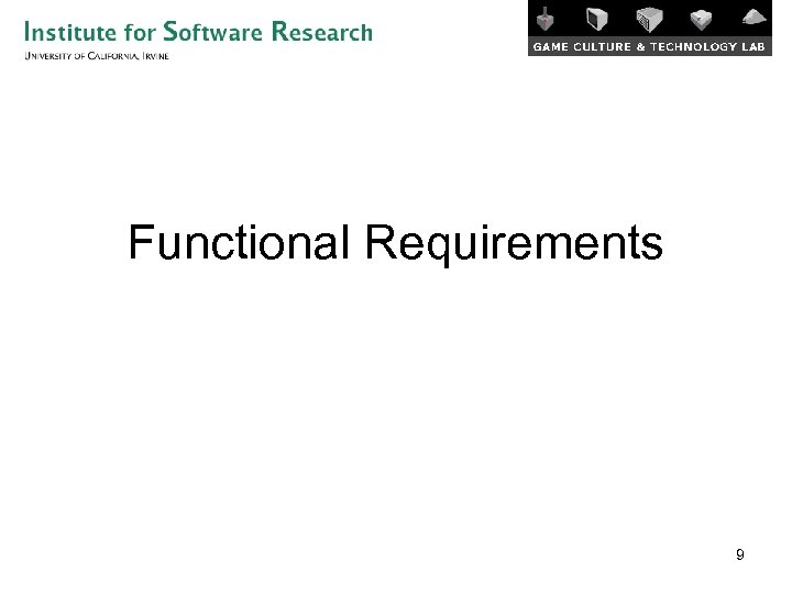 Functional Requirements 9