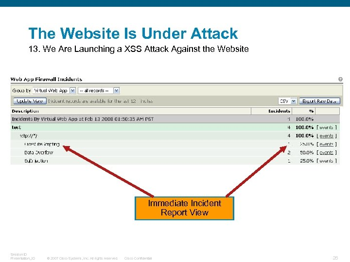 The Website Is Under Attack 13. We Are Launching a XSS Attack Against the