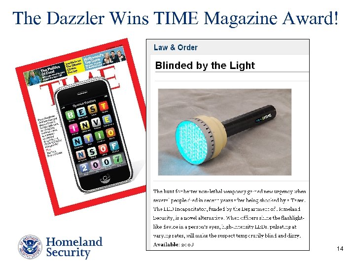The Dazzler Wins TIME Magazine Award! 14