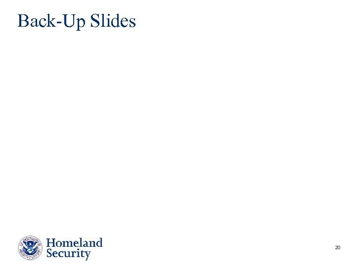 Back-Up Slides 20