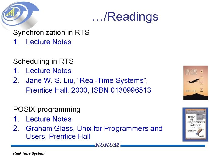 …/Readings Synchronization in RTS 1. Lecture Notes Scheduling in RTS 1. Lecture Notes 2.