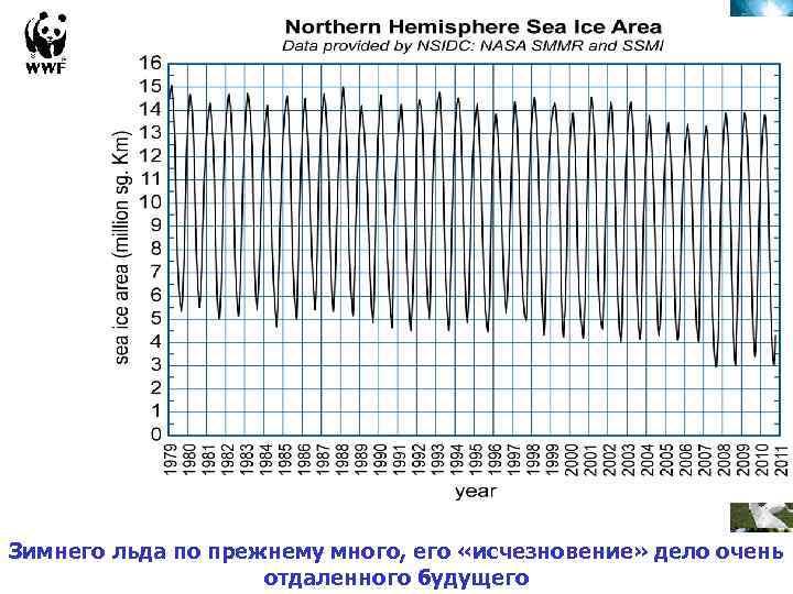 Зимнего льда по прежнему много, его «исчезновение» дело очень отдаленного будущего