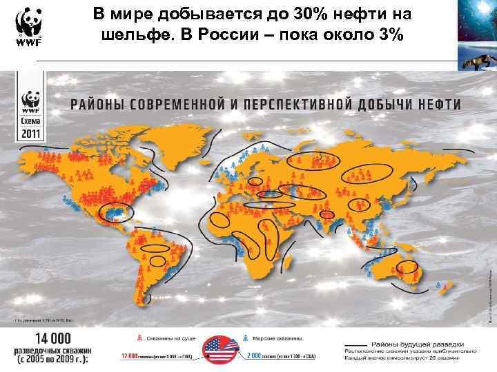 В мире добывается до 30% нефти на шельфе. В России – пока около 3%