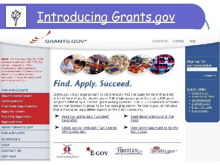 Introducing Grants. gov 11