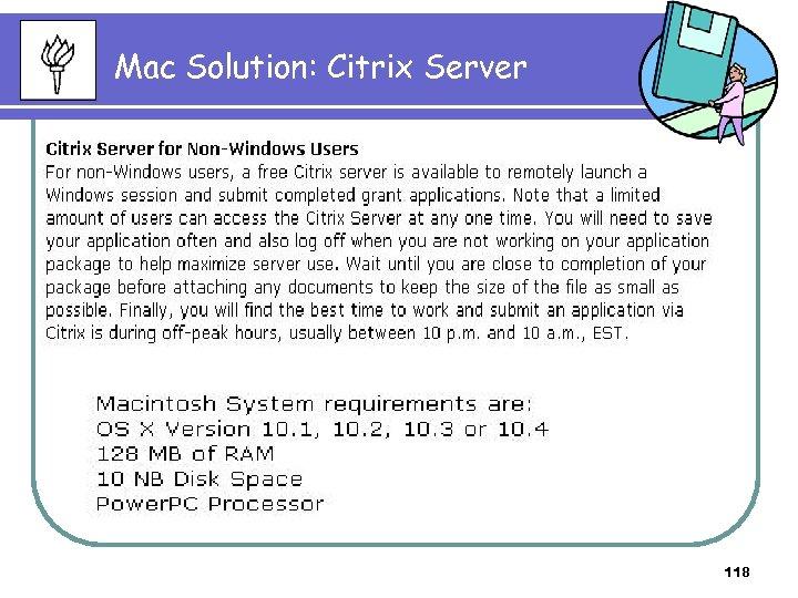 Mac Solution: Citrix Server 118