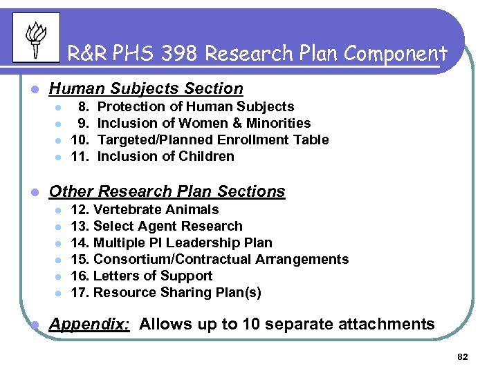 R&R PHS 398 Research Plan Component l Human Subjects Section l l l Protection