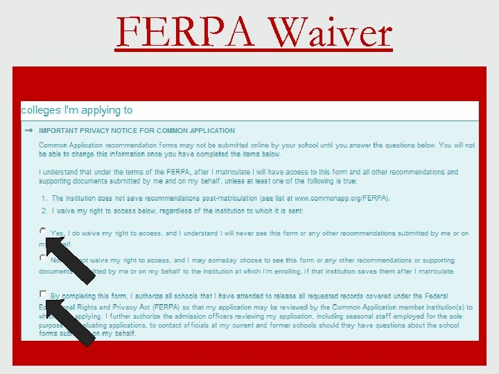 FERPA Waiver