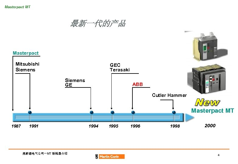 Masterpact MT 最新一代的产品 Masterpact Mitsubishi Siemens GEC Terasaki Siemens GE ABB Cutler Hammer Masterpact