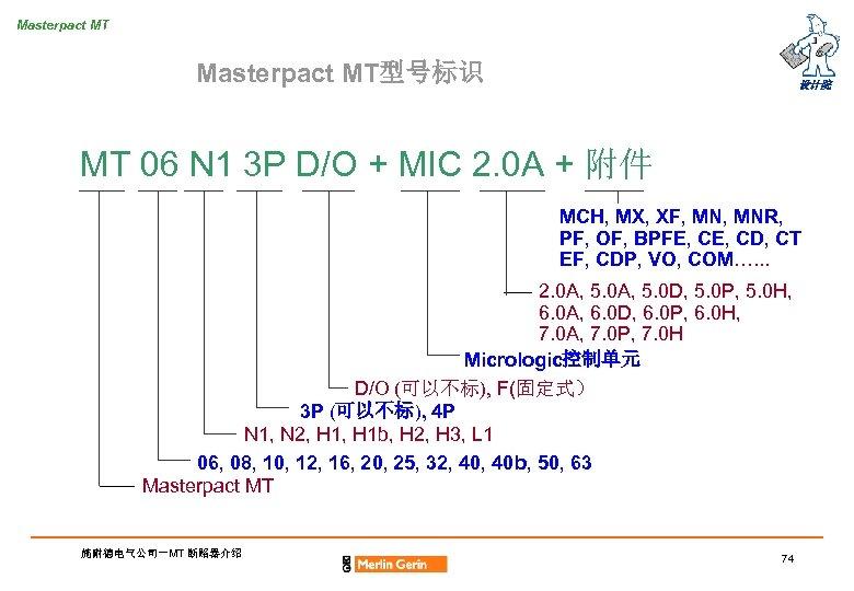 Masterpact MT型号标识 设计院 MT 06 N 1 3 P D/O + MIC 2. 0