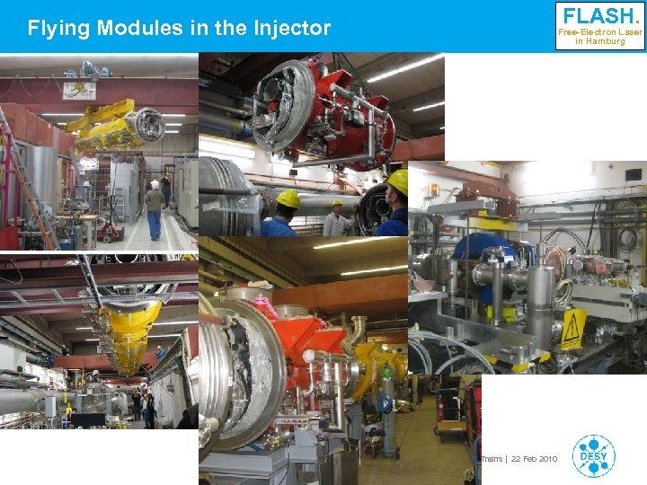 Flying Modules in the Injector FLASH. Free-Electron Laser in Hamburg Siegfried Schreiber   Workshop