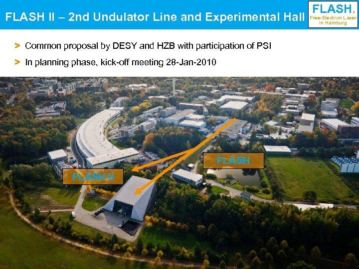 FLASH II – 2 nd Undulator Line and Experimental Hall FLASH. Free-Electron Laser in