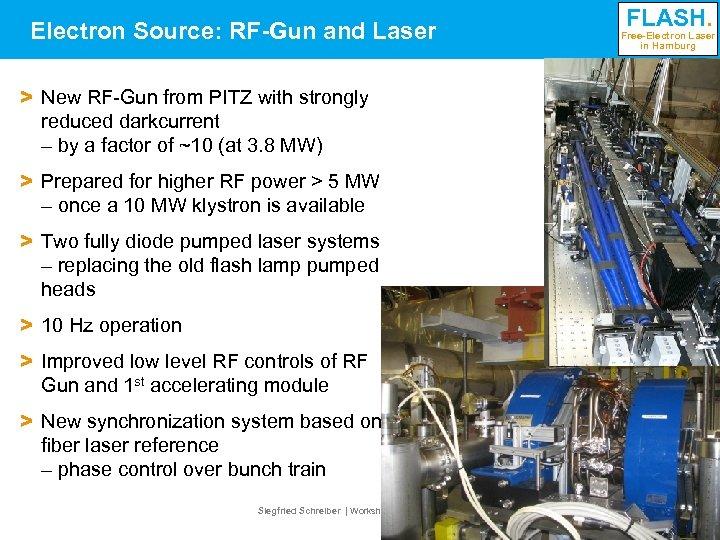 Electron Source: RF-Gun and Laser FLASH. Free-Electron Laser in Hamburg > New RF-Gun from