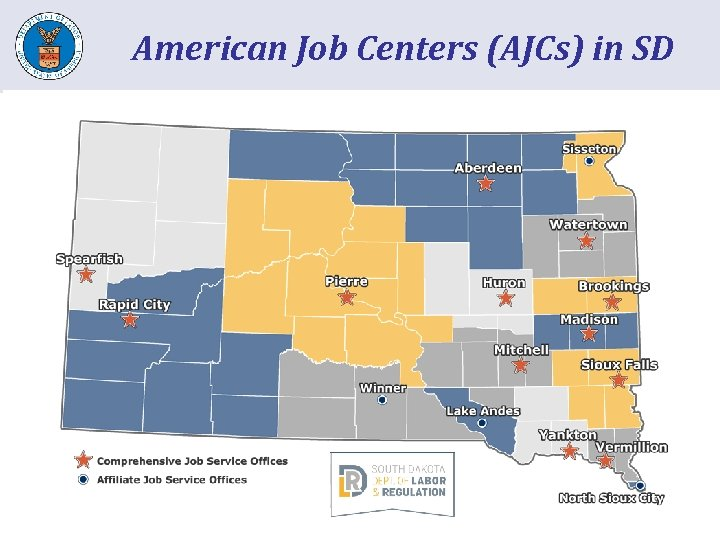 American Job Centers (AJCs) in SD