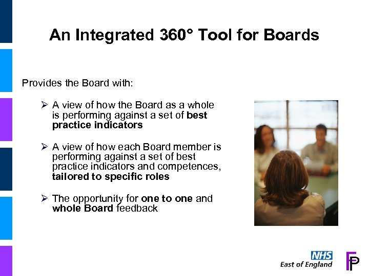 An Integrated 360° Tool for Boards Provides the Board with: Ø A view of