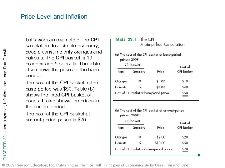 CHAPTER 22 Unemployment, Inflation, and Long-Run Growth Price Level and Inflation Let's work an