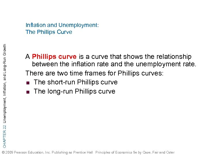 CHAPTER 22 Unemployment, Inflation, and Long-Run Growth Inflation and Unemployment: The Phillips Curve A