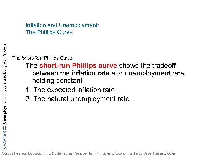 CHAPTER 22 Unemployment, Inflation, and Long-Run Growth Inflation and Unemployment: The Phillips Curve The