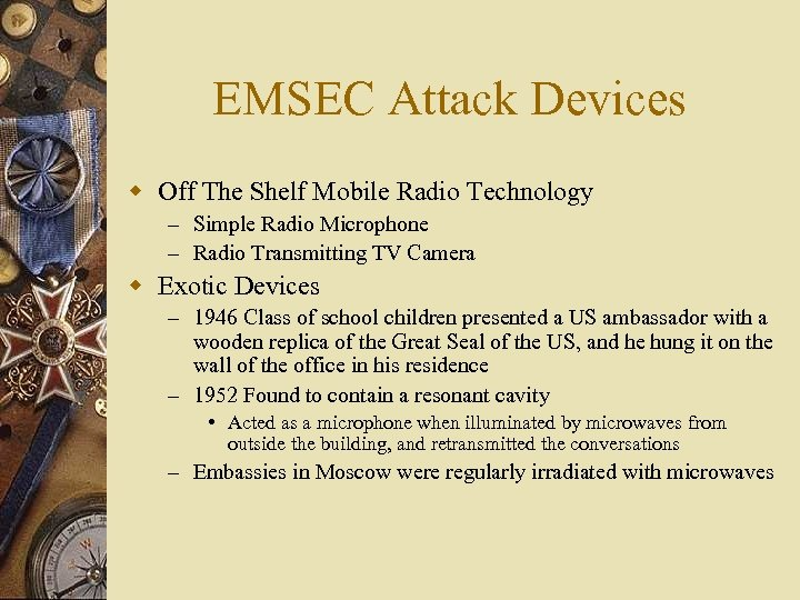 EMSEC Attack Devices w Off The Shelf Mobile Radio Technology – Simple Radio Microphone