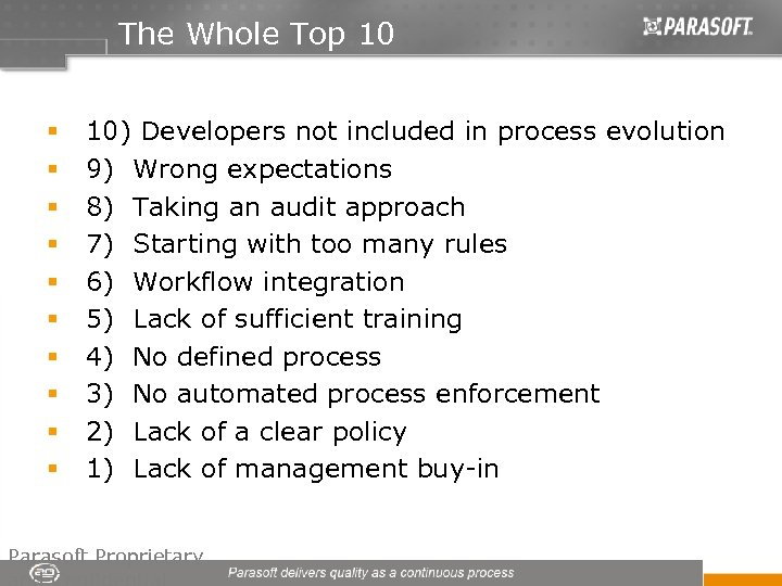 The Whole Top 10 § § § § § 10) Developers not included in