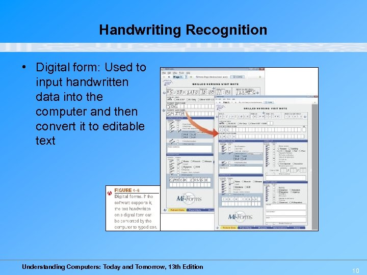 Handwriting Recognition • Digital form: Used to input handwritten data into the computer and