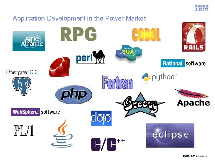 Application Development in the Power Market SOA © 2009 IBM Corporation