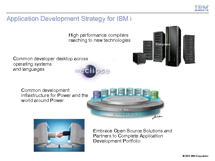 Application Development Strategy for IBM i High performance compilers reaching to new technologies Compilers