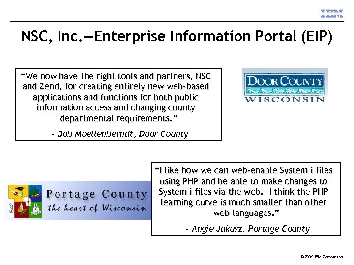 "NSC, Inc. —Enterprise Information Portal (EIP) ""We now have the right tools and partners,"