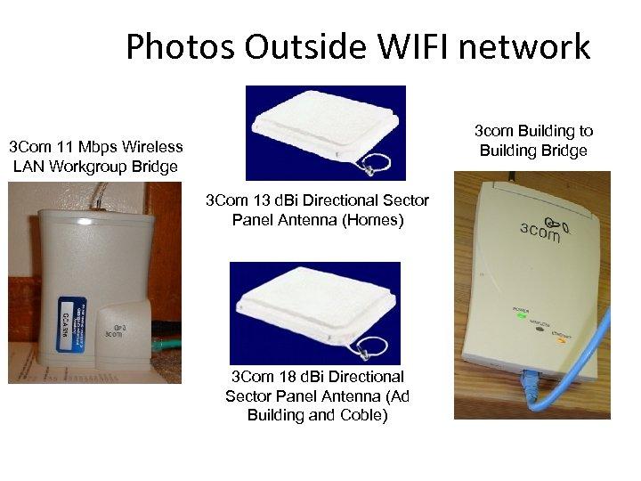 Photos Outside WIFI network 3 com Building to Building Bridge 3 Com 11 Mbps
