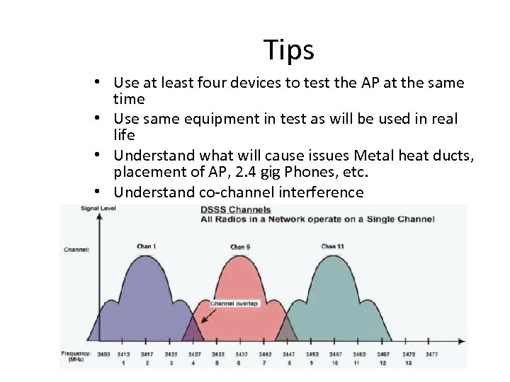 Tips • Use at least four devices to test the AP at the same