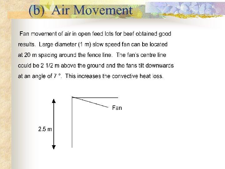 (b) Air Movement