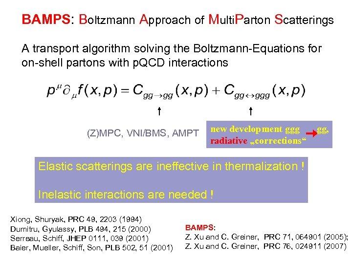 BAMPS: Boltzmann Approach of Multi. Parton Scatterings A transport algorithm solving the Boltzmann-Equations for