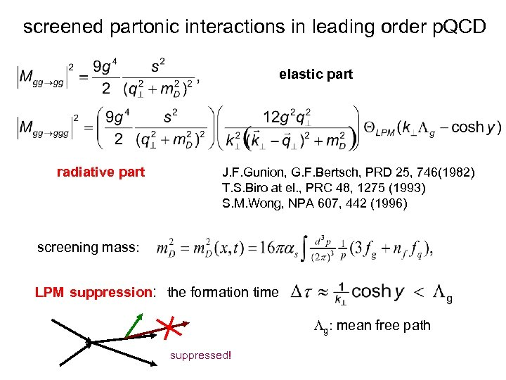 screened partonic interactions in leading order p. QCD elastic part radiative part J. F.