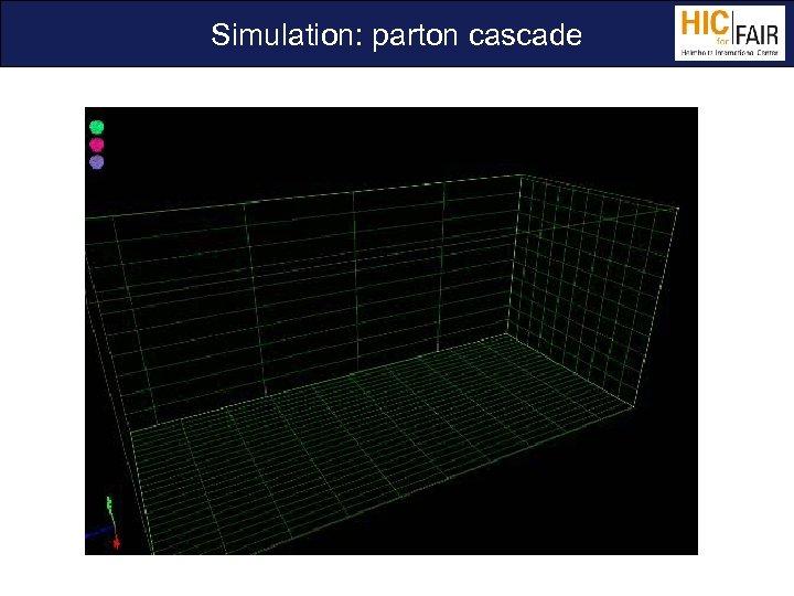 Simulation: parton cascade