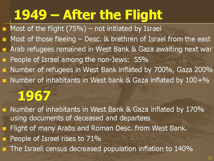 1949 – After the Flight n n n Most of the flight (75%) –