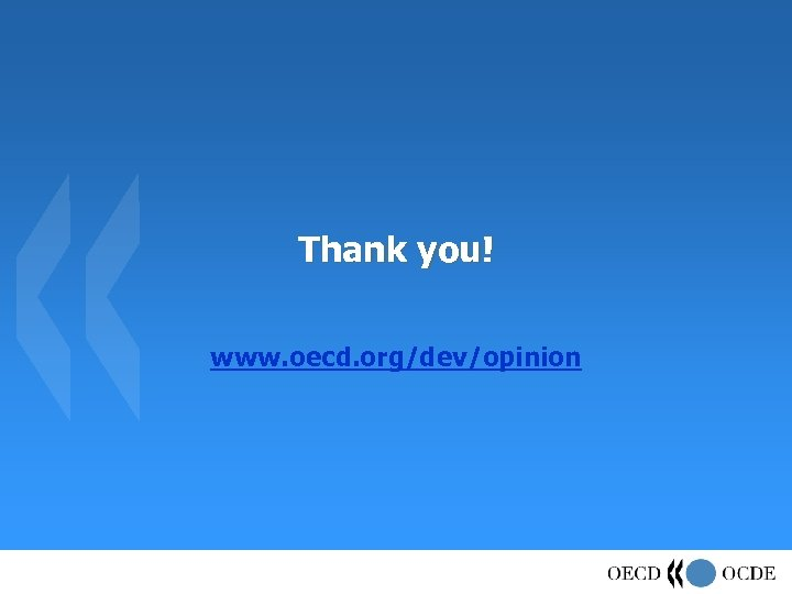 Thank you! www. oecd. org/dev/opinion