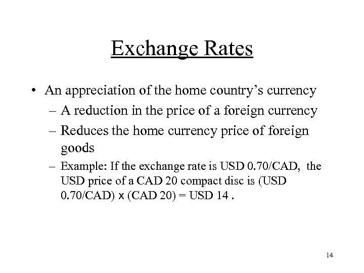 Section 2 The Foreign Exchange Market 1
