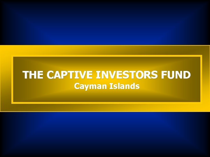 THE CAPTIVE INVESTORS FUND Cayman Islands