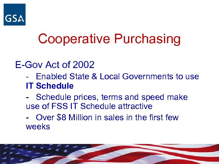 Cooperative Purchasing E-Gov Act of 2002 - Enabled State & Local Governments to use