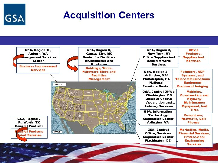 Acquisition Centers GSA, Region 10, Auburn, WA Management Services Center Business Improvement Services GSA,