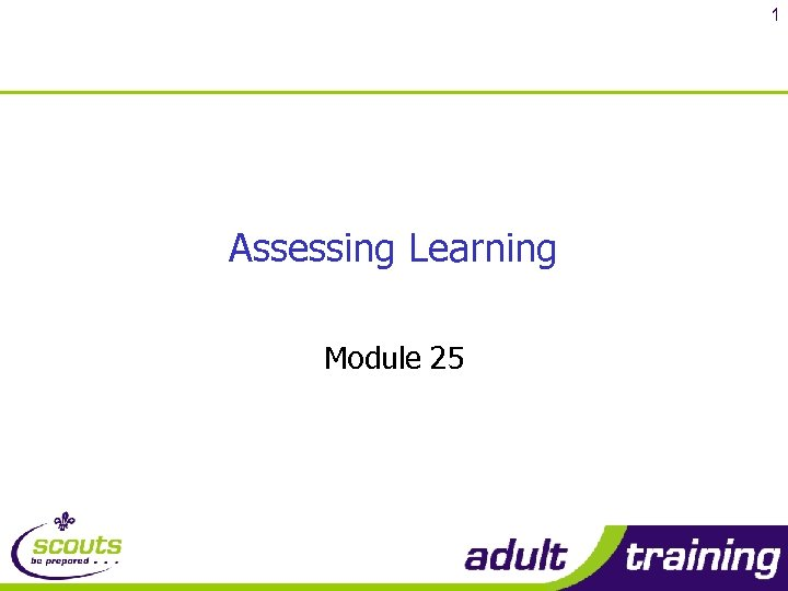 1 Assessing Learning Module 25