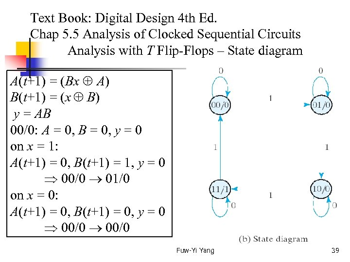 Text Book: Digital Design 4 th Ed. Chap 5. 5 Analysis of Clocked