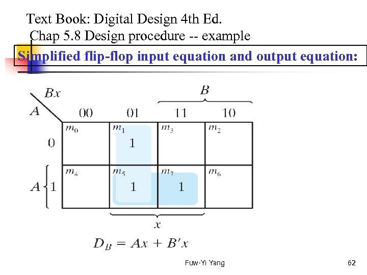 Text Book: Digital Design 4 th Ed. Chap 5. 8 Design procedure --