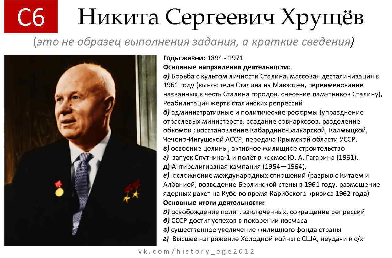 an introduction to the life and political history of nikita sergeyevich khruschchev The khrushchev thaw was highlighted by and made history as the first uncensored unsuccessful introduction of maize during agricultural crisis in.