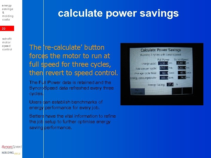 energy savings & molding costs calculate power savings 22 retrofit motor speed control The