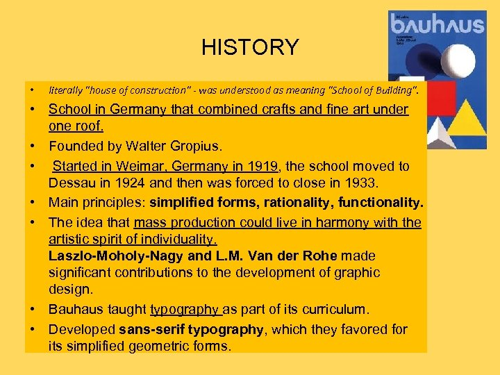 HISTORY • literally