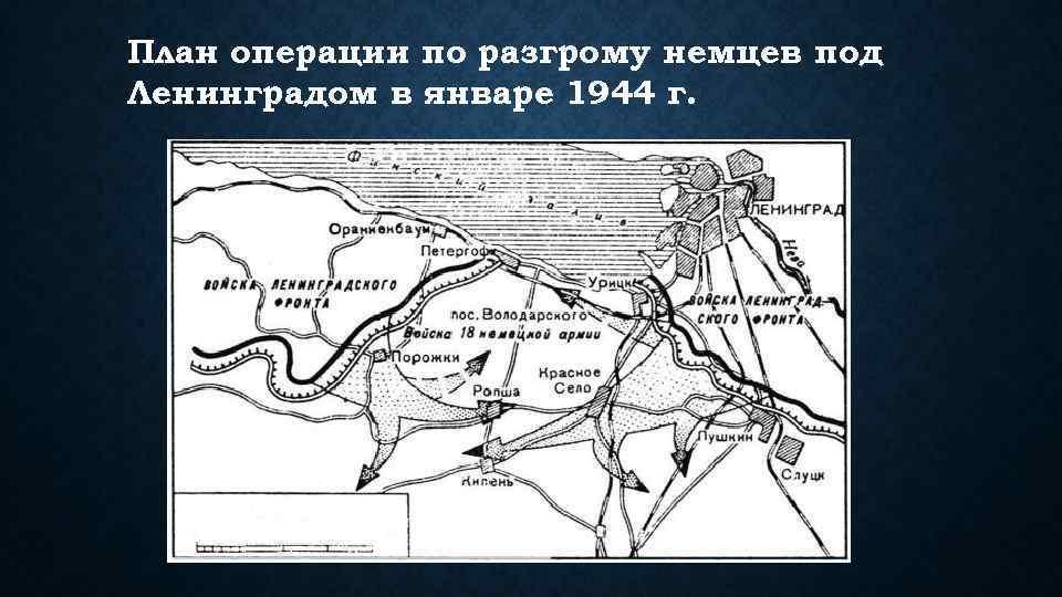 План операции по разгрому немцев под Ленинградом в январе 1944 г.